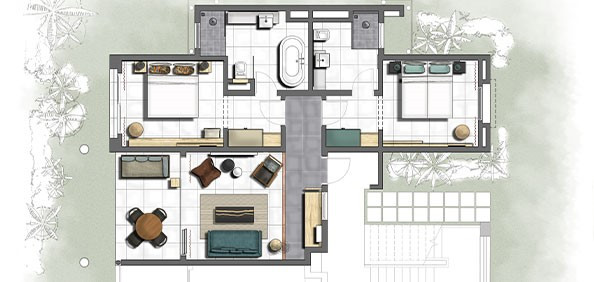 Floor Plan 2 - bedroom unit